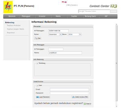 PLN Online Untuk Cek Tagihan Listrik