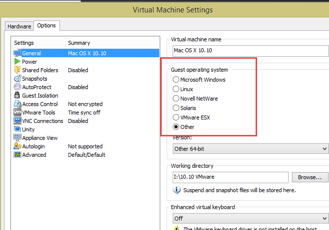 download virtual machine mac os x vmware