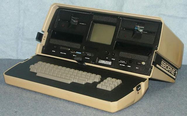 Второй в мире ноутбук (Osborne 1) выглядел так