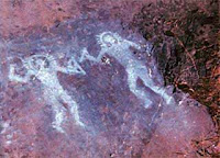 Ancient paintings from Val Camonica, Italy depicting forgotten deities; ancient astronaut proponents claim they resemble modern day astronauts [wikipedia]