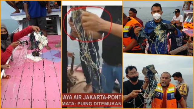 Pesawat Sriwijaya Air Jatuh dan Meledak di Kepulauan Seribu, Ini Foto-foto Serpihannya
