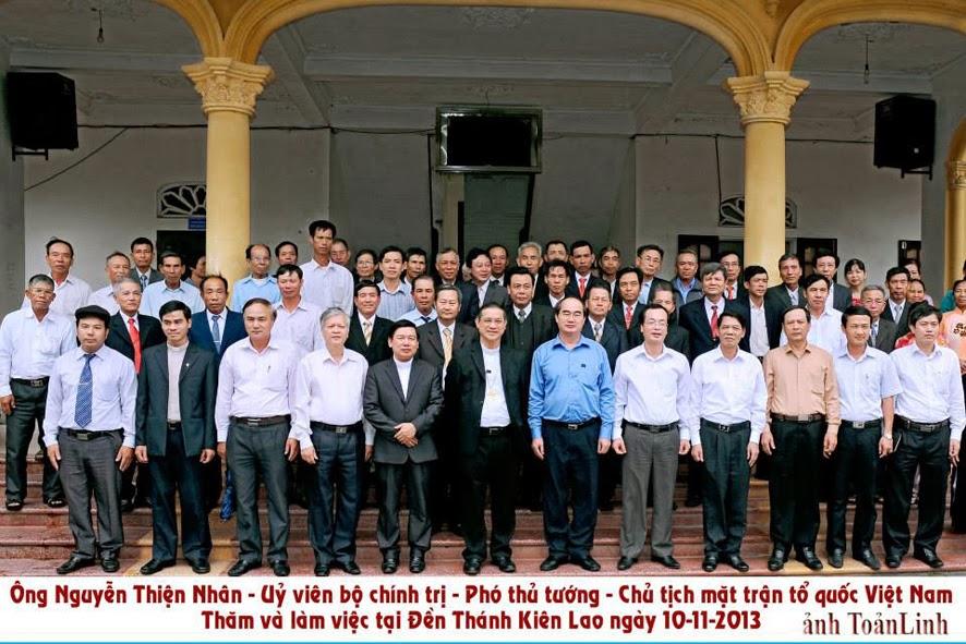 Phó thủ tướng Nguyễn Thiện Nhân về Thăm giáo xứ Đền Thánh Kiên Lao