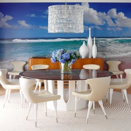 ocean mural dining room