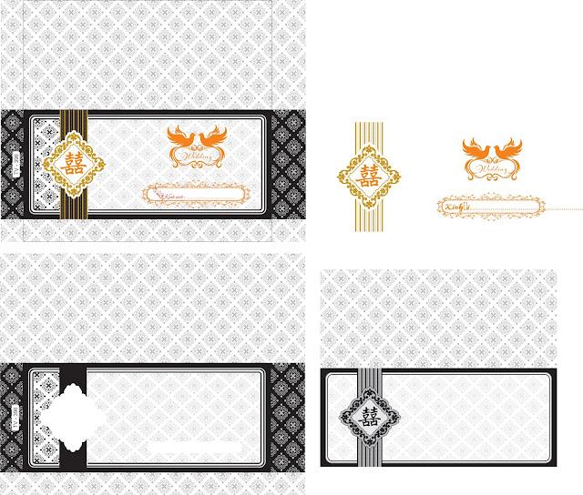 Vector thiết kế in phôi thiệp cưới