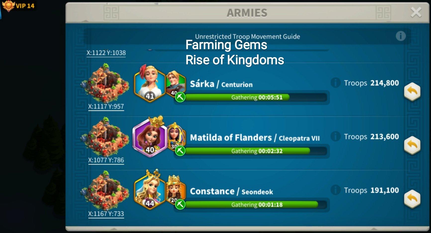 farming gems rise of kingdoms