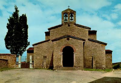 San Julián de los Prados. Postal Alarde, 1969