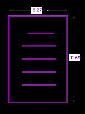 Ukuran kertas A4 inc