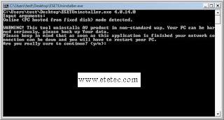 حل مشكلة حذف  ESET Smart Security