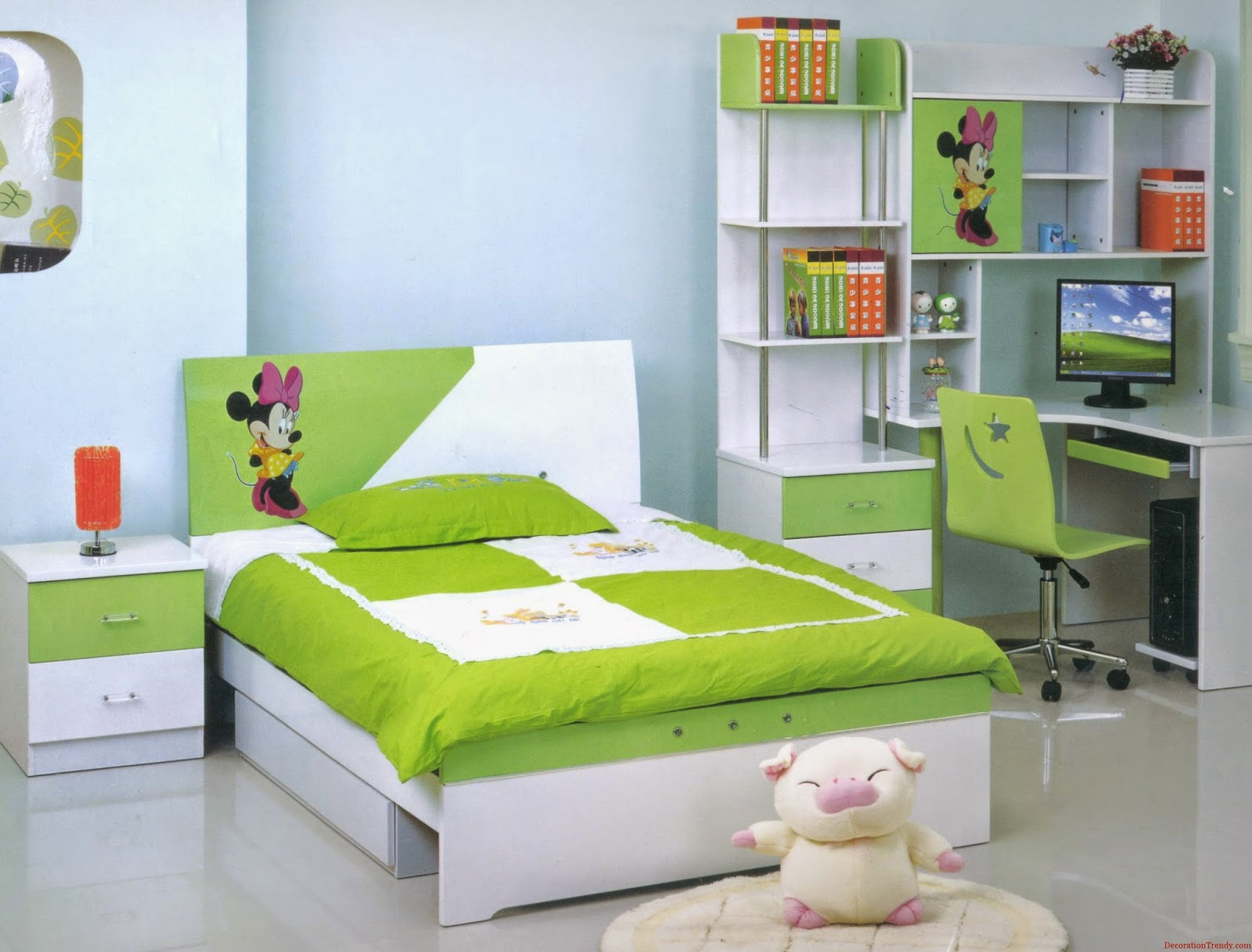 50 Desain Kamar Tidur Anak Perempuan Minimalis Warna Hijau 3000