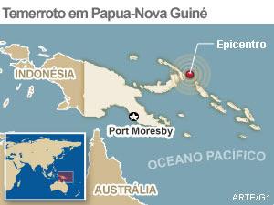 INTENSO TERREMOTO DE 7.9 EM PAPUA NOVA GUINE E ILHAS VIZINHA