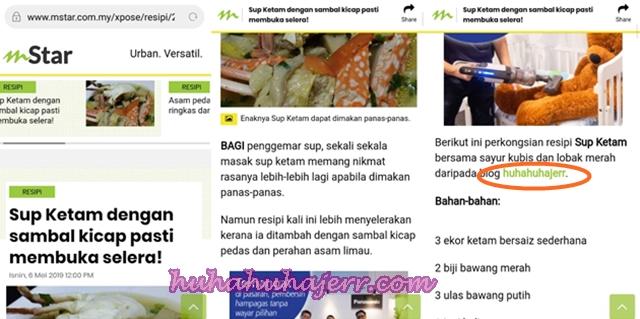 Resepi Masakan Aku Tersiar Di mStar Online Ramadan Lalu... Huiyooo!!