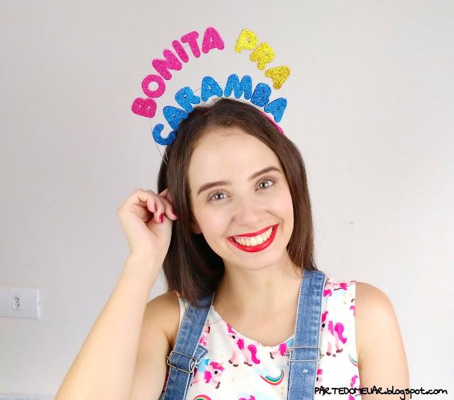 tiara para carnaval