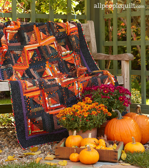 Spooky Shadows Quilt designed Lila Taylor Scott for All People Quilt