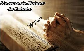 """Imagem de mãos em oração sobre a BÍBLIA, anunciando o início do Sistema de Notas+ de Estudo """"NT+"""""""
