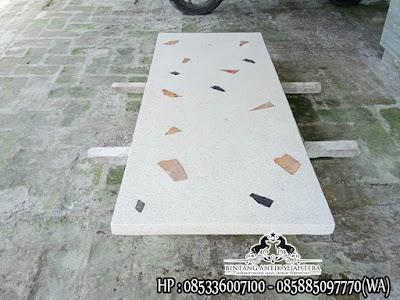 Atasan Meja Marmer Kotak, Top Table Marmer, Daun Meja Marmer Putih