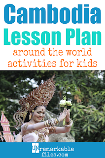 Building the perfect Cambodia lesson plan for your students? Are you doing an around-the-world unit in your K-12 social studies classroom? Try these free and fun Khmer activities, crafts, books, and free printables for teachers and educators! #Cambodia #ankor #lessonplan