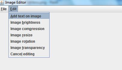 Java programs: Image Editor