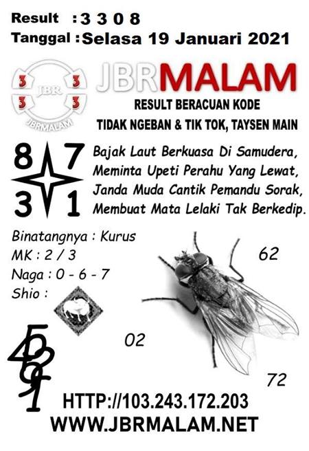 JBR Malam HK Selasa 19-Jan-2021