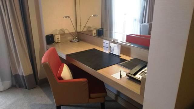 Escritório do quarto do Hotel Intercontinental São Paulo