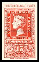 Filatelia - Centenario del Sello español (1950) - Valor de 15 pesetas