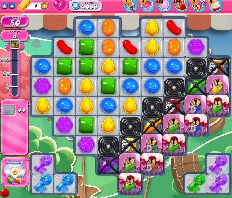 Candy Crush Saga level 2069
