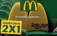 Logo Con McDonald's ti gusti il cinema in sala e a casa tua! ricevi voucher come premio certo