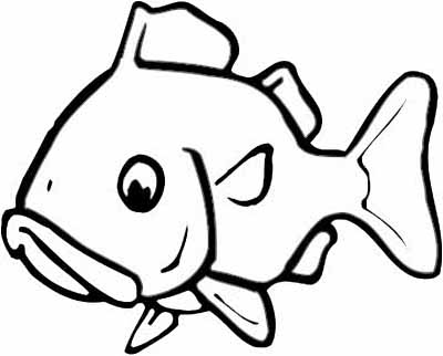 coloring pages cartoon fish - photo#45