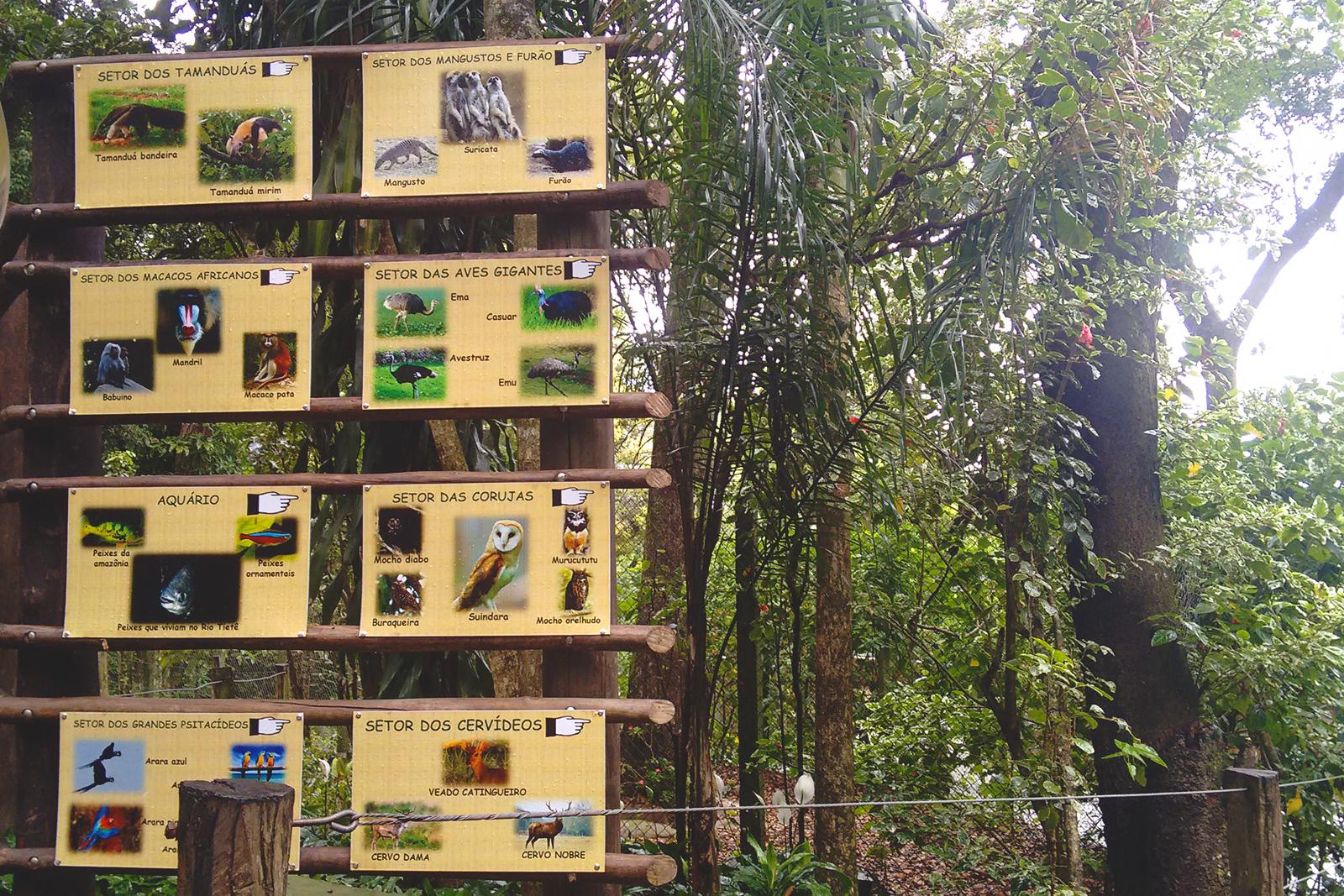 placas zoológico de bauru