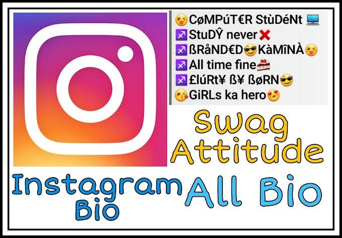 Instagram Bio in hindi for Boy~Girl ~Swag Attitude instagram Bio in Hindi English