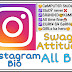 Instagram Bio For Boy ~ Girl ~ 😎Attitude,😃swag,😊cool,😉emoji All instagram Bio in Hindi+English