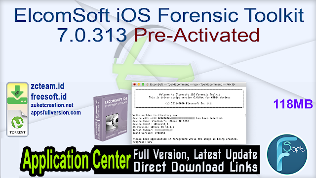ElcomSoft iOS Forensic Toolkit 7.0.313 Pre-Activated