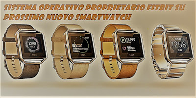Sistema operativo proprietario Fitbit su nuovo smartwatch