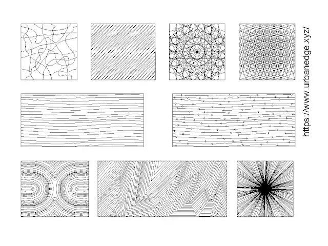 Design pattern lines cad blocks download - 5+ dwg blocks