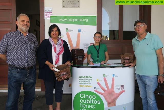 El Consorcio de Servicios de La Palma lleva la recogida selectiva de biorresiduos a Tazacorte con la implantación del contenedor marrón