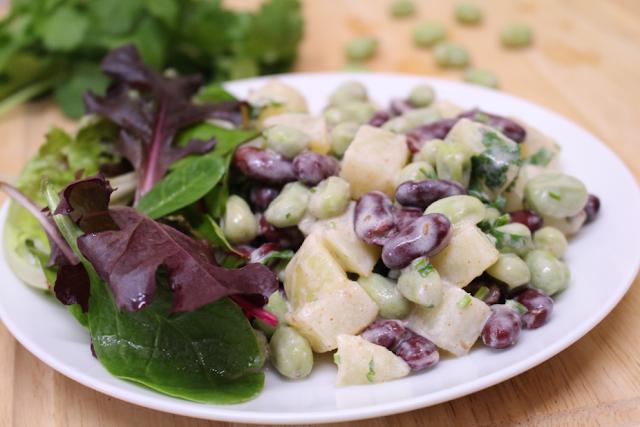 Potato and bean salad