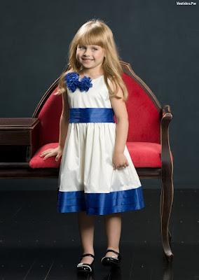 Vestidos para nina de fiesta color azul