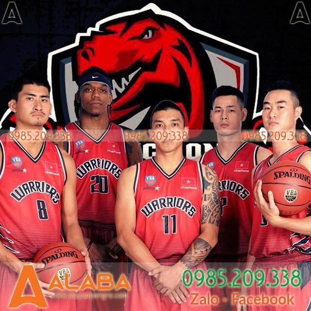 Áo bóng rổ Thăng Long Warriors màu đỏ đẹp