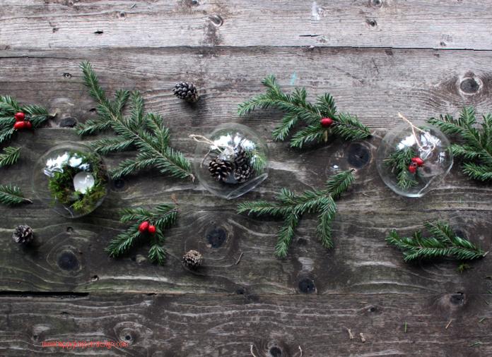 Bolas navideñas de vidrio