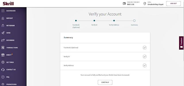 Skrill account Verification Full Methode