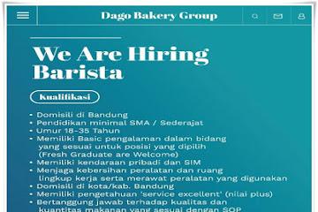 Lowongan Kerja Barista Dago Bakery