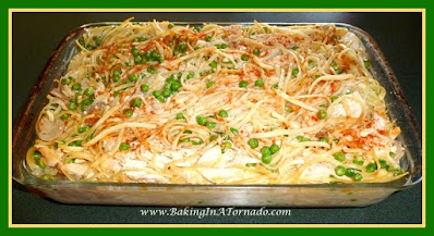 Turkey Tetrazzini Casserole   Recipe developed by www.BakingInATornado.com