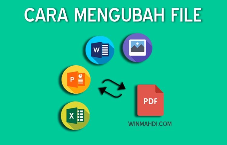 Cara mengubah file ke PDF