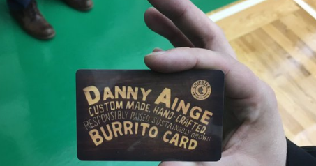 I have a new goal in life: Get a Chipotle celebrity burrito card