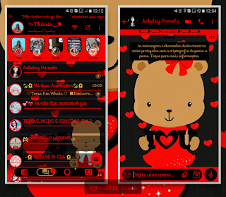 Teddy Bear Love Theme For YOWhatsApp & KM WhatsApp By Thania