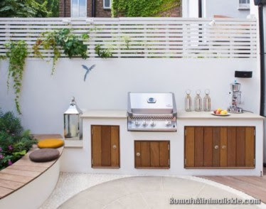 50 Outdoor Desain Dapur Menyatu Dengan Taman Belakang Rumah