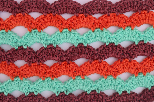 2 - Crochet Imagen Puntada de abanicos a crochet para blusas por Majovel Crochet