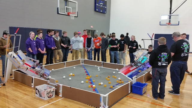 Enigma FTC Robotics competing locally at West Michigan Aviation Academy in Grand Rapids, Michigan - January 2016.
