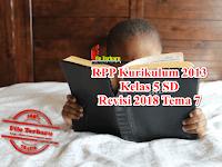 RPP Kurikulum 2013 Kelas 5 SD Revisi 2018 Tema 7