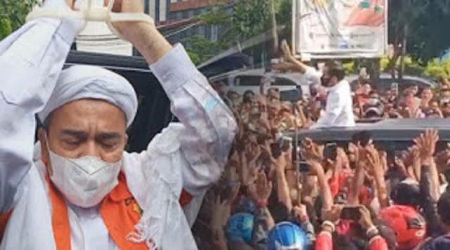 Presiden Jokowi Timbulkan Kerumunan, Semestinya Ha6ib Ri2ieq Dibebaskan