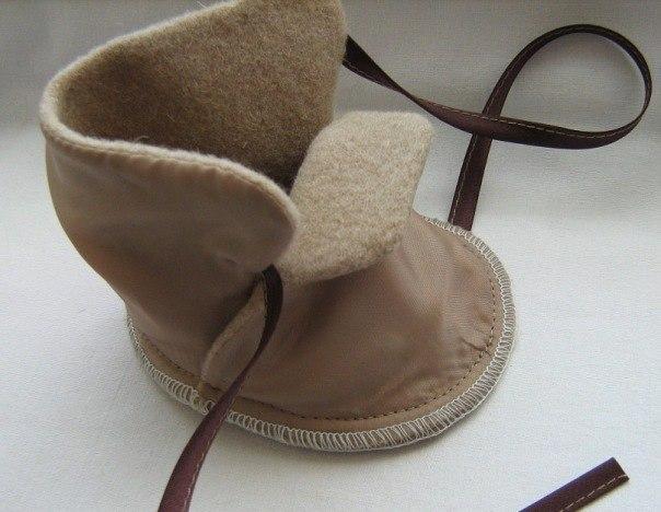Выкройки обувь для кукол большеножек: сапожки